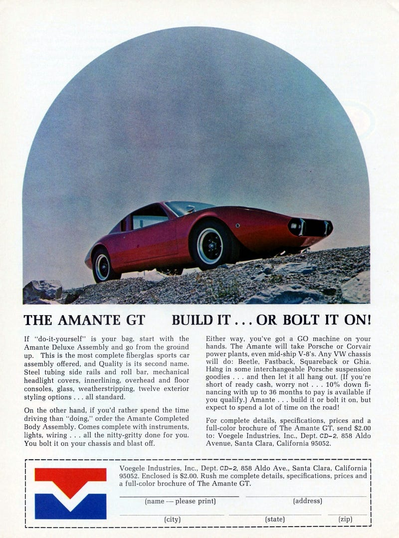 Man Does Not Live By Bread Alone, Baby: The Hilarious Amante GT Brochure