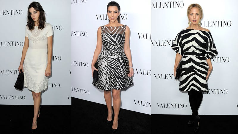 Valentino Party Fashion Was Black, White, and Red All Over