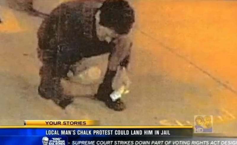 San Diego Man Facing 13 Years in Prison for Using Chalk on Sidewalk