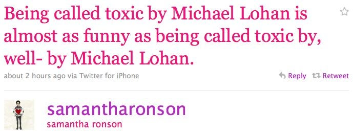 Samantha Ronson Responds To Michael Lohan