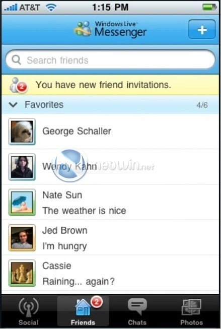 Windows Live Messenger iPhone App Almost Looks Better Than Desktop Version