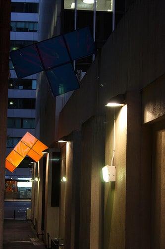 Art: Tetris Bricks Falling in an Alley