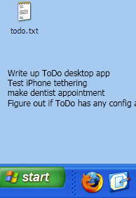 ToDo Embeds the Contents of Todo.txt onto Your Desktop