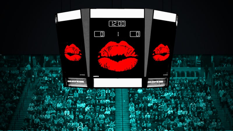 The Kiss Cam And American Sports Fans: The History Of A Romance