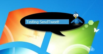 SendTweet Updates Twitter From Your Desktop