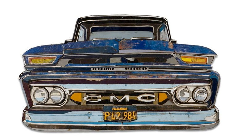 Dutch artist turns junk wood into realistic car sculptures