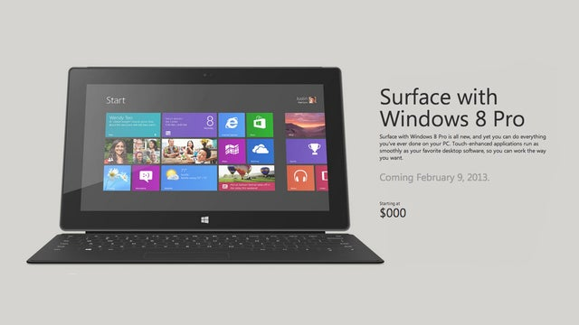 Microsoft Ad: Surface Pro Costs Zero Dollars