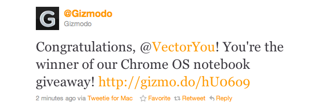 And the Winner of a Prototype Chrome OS Notebook Is...