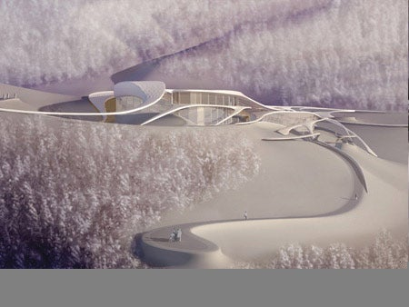 Alien Secret Base Discovered in the Alps Is Actually Medical Center Concept