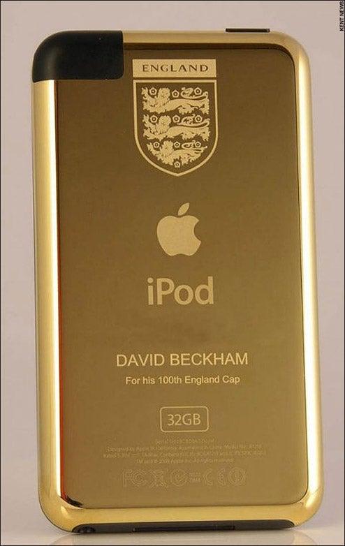 David Beckham Gets a Gold iPod Touch