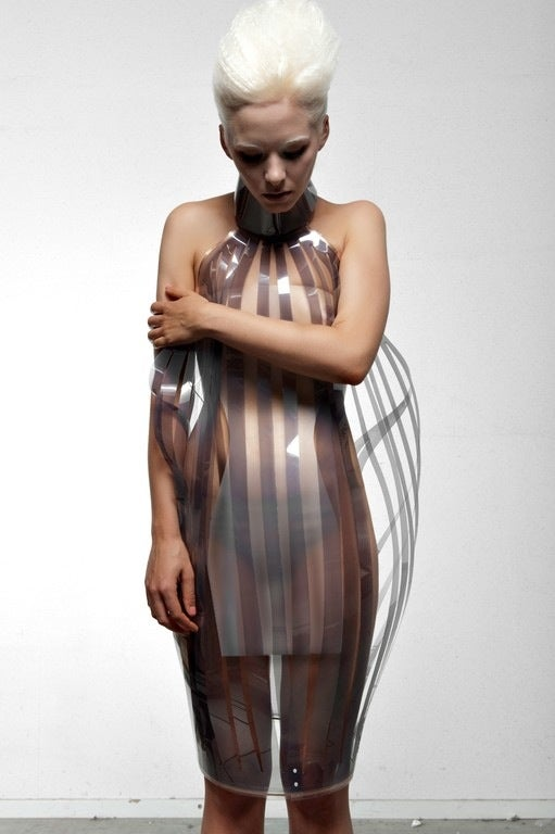 Robotic dresses that will mix drinks for you, then turn transparent