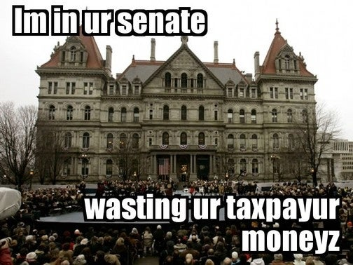 New York State Senate Losing Their Allowance Until They Can Learn To Stop Being Children