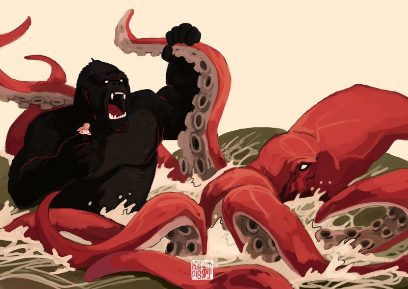 K is for King Kong vs. Kraken: A Monstrous Alphabet