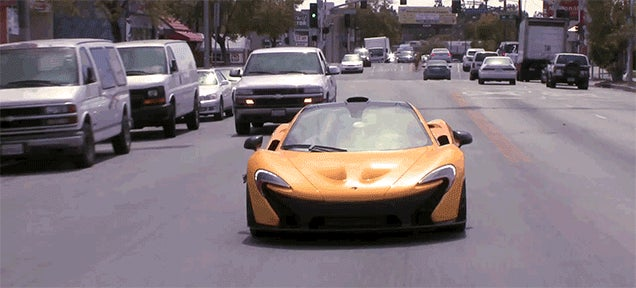 Watch A Prius Overtake A McLaren P1 Driven By Jay Leno