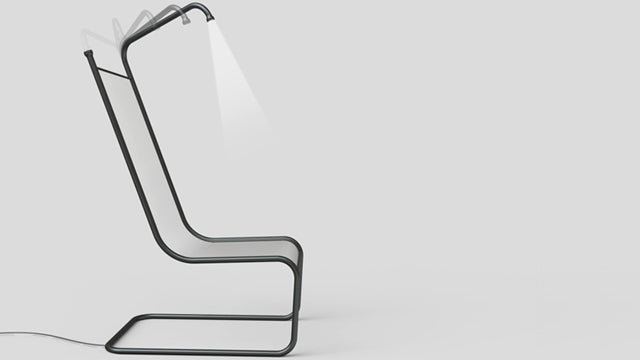 You Won't Need a Book Light with This Chair