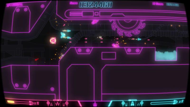Pixeljunk: Sidescroller Looks Like a Neon Delight