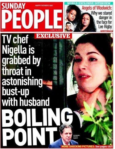 Outrage Over Photos Showing Celebrity Chef Being 'Choked' By Husband