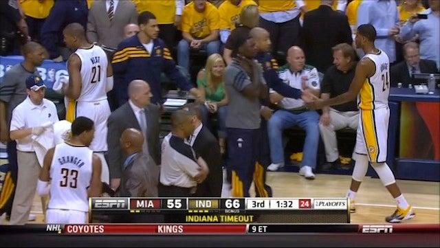 LeBron James Cattily Responds To Lance Stephenson's Choke Gesture
