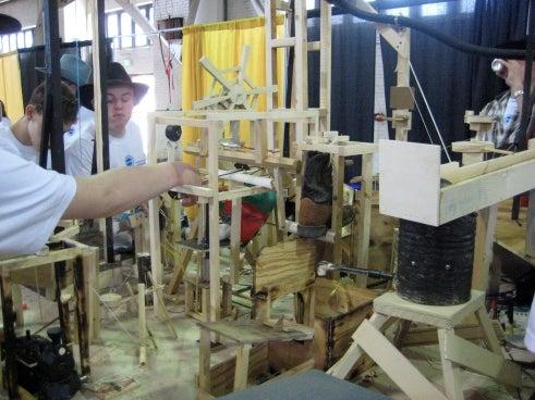 Purdue's 156-Step Burger Maker Wins Rube Goldberg Contest