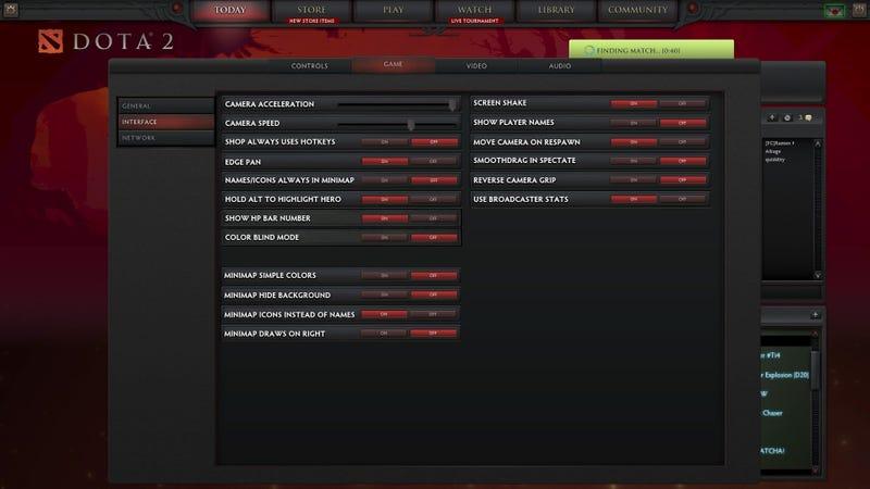 Dota 2 - Settings, settings and more settings