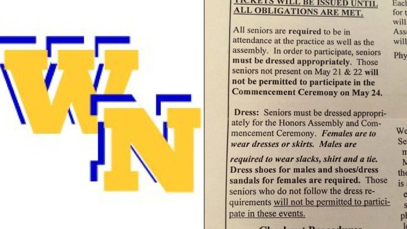 High School Makes Students Dress According to Gender for Graduation