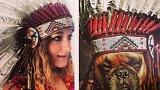 Phantograms Sarah Barthel Apologizes for Wayne Coyne's Dog in a Headdress Photo