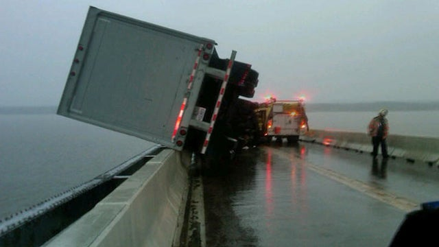 How did this truck not plummet into the Potomac River?