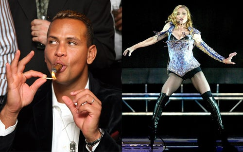Madonna, A-Rod Reportedly Now Allowed to Touch Each Other's Private Parts Without Consequence