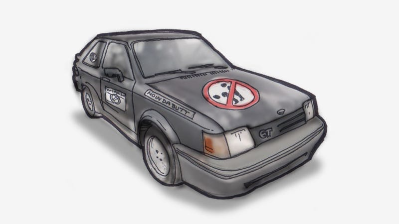 """The Baffling Story Of The """"NO IN DA BUTT"""" Ford Escort GT"""