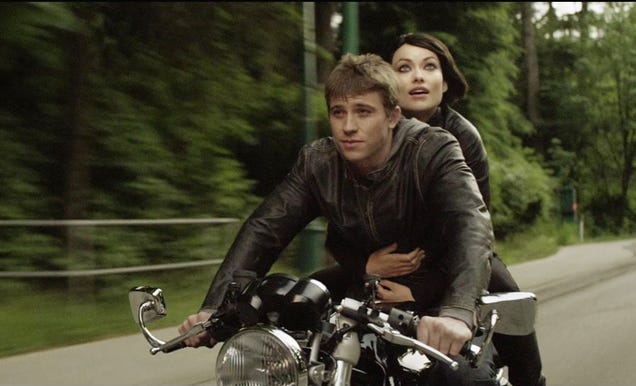 Garrett Hedlund Tron Motorcycle Olivia Wilde And Garre...