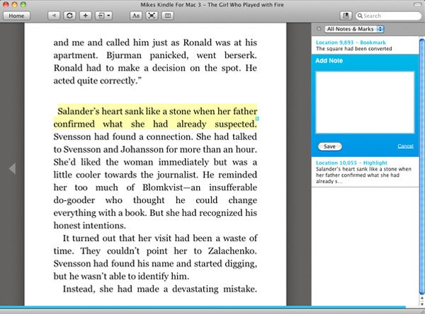 Kindle For Mac Adds Annotation and Highlighting