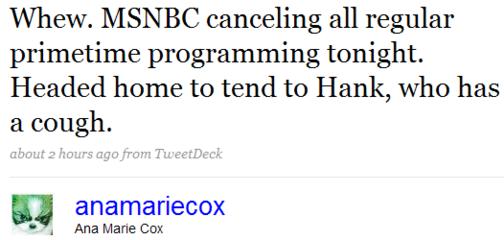No AMC on MSNBC Tonight