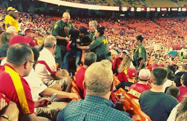 Chiefs Fan Gets Tasered By Arrowhead Security