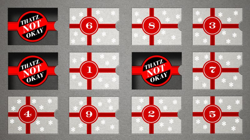 The 12 Days of Thatz Not Okay: 10 Dollars, Split Three Ways
