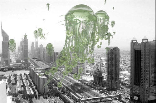 The hanging gardens of the future, 1000 feet in the sky