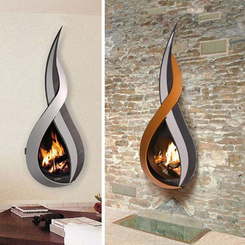 Elaborate Wall-Mounted Fireplaces For Holiday Ambiance