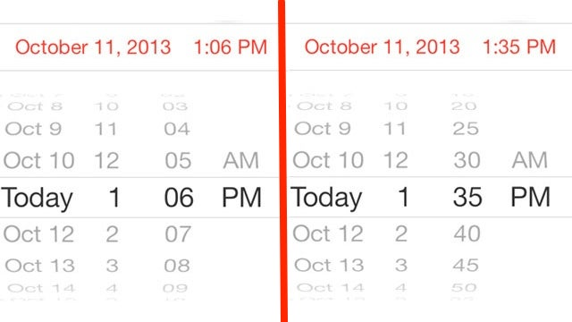 Double-Tap the iPhone's Time Picker to Switch Minute Increments