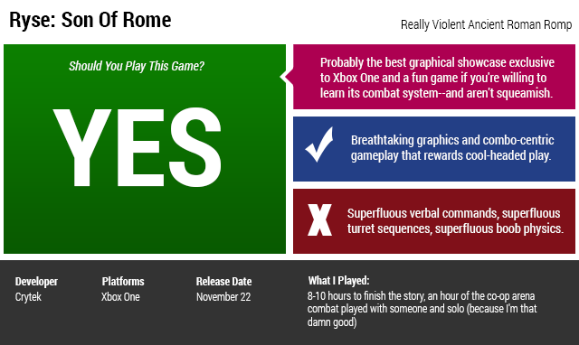 Ryse: Son of Rome: The Kotaku Review