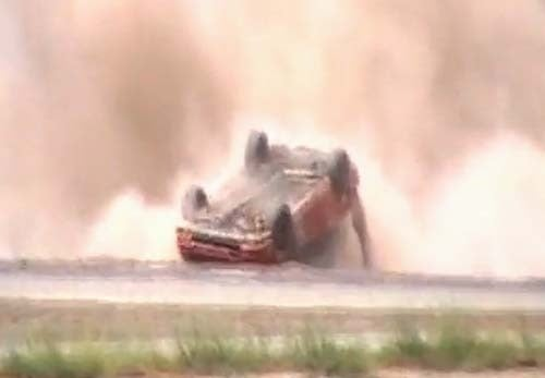 Race-Leading Integra Flips On Final Lap Of Buttonwillow LeMons