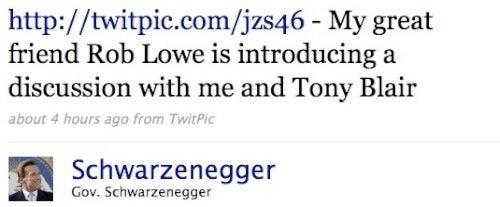 Rob Lowe, Arnold Schwarzenegger and Tony Blair Walk Into a Political Venue...