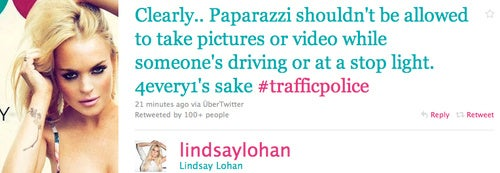 Lindsay Lohan's First Post-Jail Tweet: Paparazzi Hate