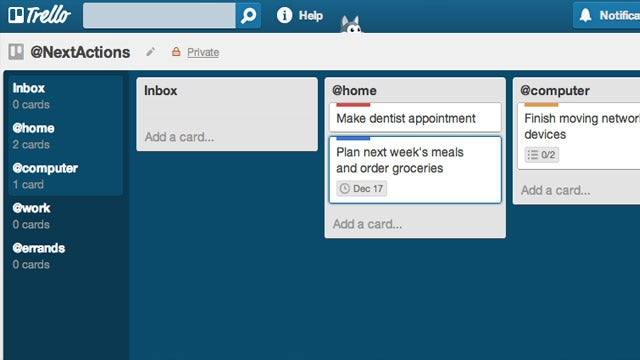 Use Trello as a Flexible, Visually Organized GTD System