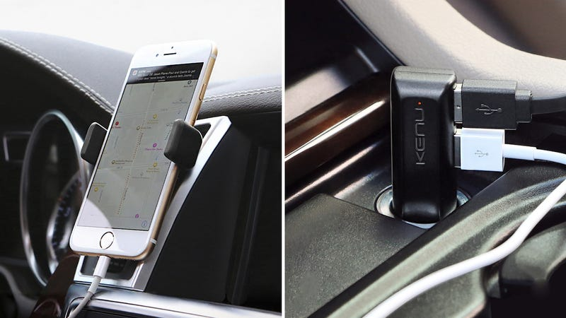 The Kenu Car Kit Keeps Your Phone (and a Friend's) Mounted And Powered Anywhere You Go
