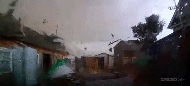 Terrifying dash cam video shows what it is like to be inside a tornado