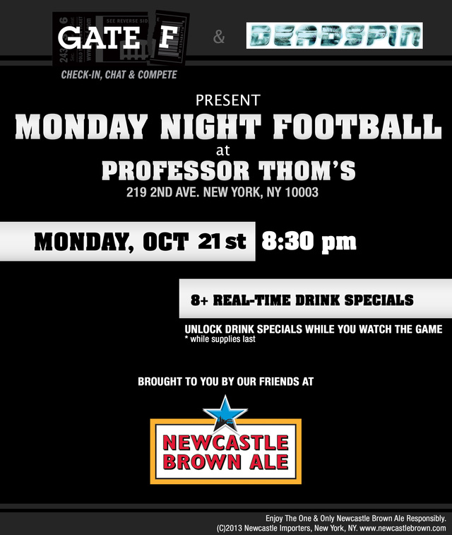 Next Monday- Join Deadspin and Gate F for a Giants vs Vikings MNF Party!