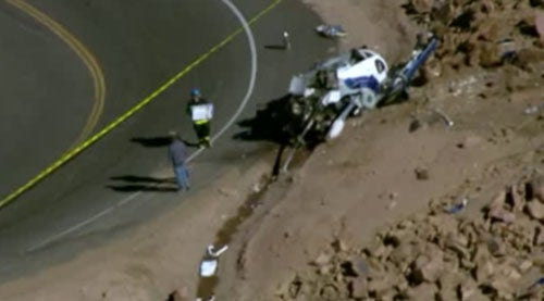 Helicopter Crash On Pikes Peak During Audi Commercial Shoot