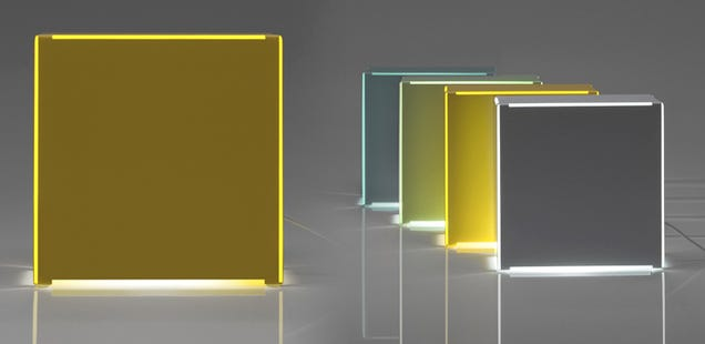 Boxy Lamps Fake the Glow Of Neon Lights Without All That Buzzing