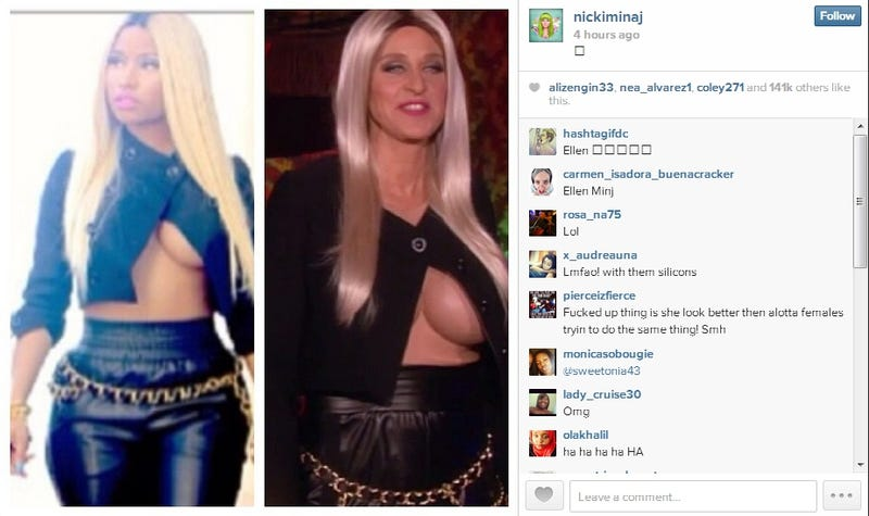 Ellen Is Nicki Minaj for Halloween and Every Other Costume Is Now Crap