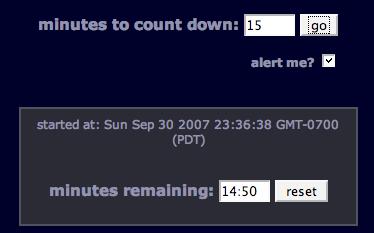 Title Bar Browser Timer