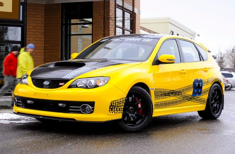 Travis Pastrana WRX STI Celebrates Subaru Championship